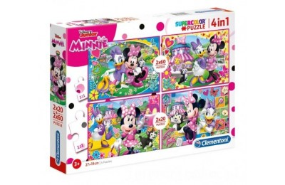 [ Black Friday 2020 ] CLEMENTONI PUZZLE SUPERCOLOR 4w1 MYSZKA MINNIE 07615