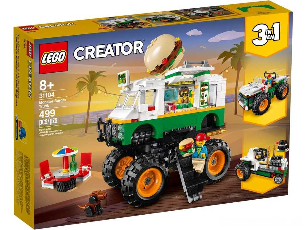 [ Black Friday 2020 ] LEGO Monster truck z burgerami